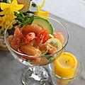 Salade d' écrevisses sauce cocktail