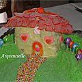 Gâteau Maison hansel Gretel détail maison