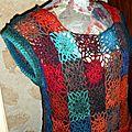 Tunique chasuble crochet à la jeannette