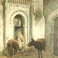 E.A.GIRARDET - Scène de rue à Tanger