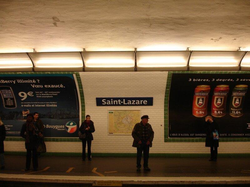 Station Saint-Lazare ligne B (13)