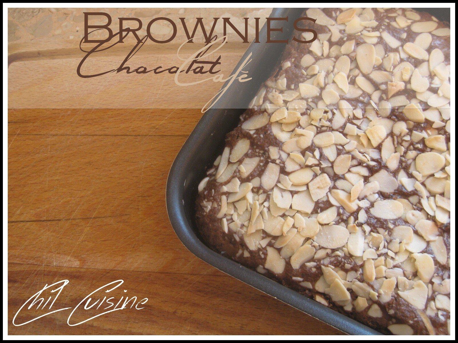 Brownie au chocolat et café