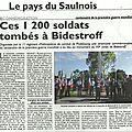 Ces 1200 soldats tombés à bidestroff...