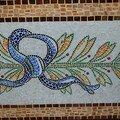 Mosaïque en pâte de verre d'après un motif italien