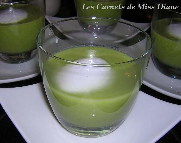 Soupe de pois verts en verrine
