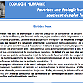 Afc et écologie humaine