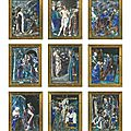 Series of nine plaques with scenes from the life of christ, french, limoges, mid 16th century