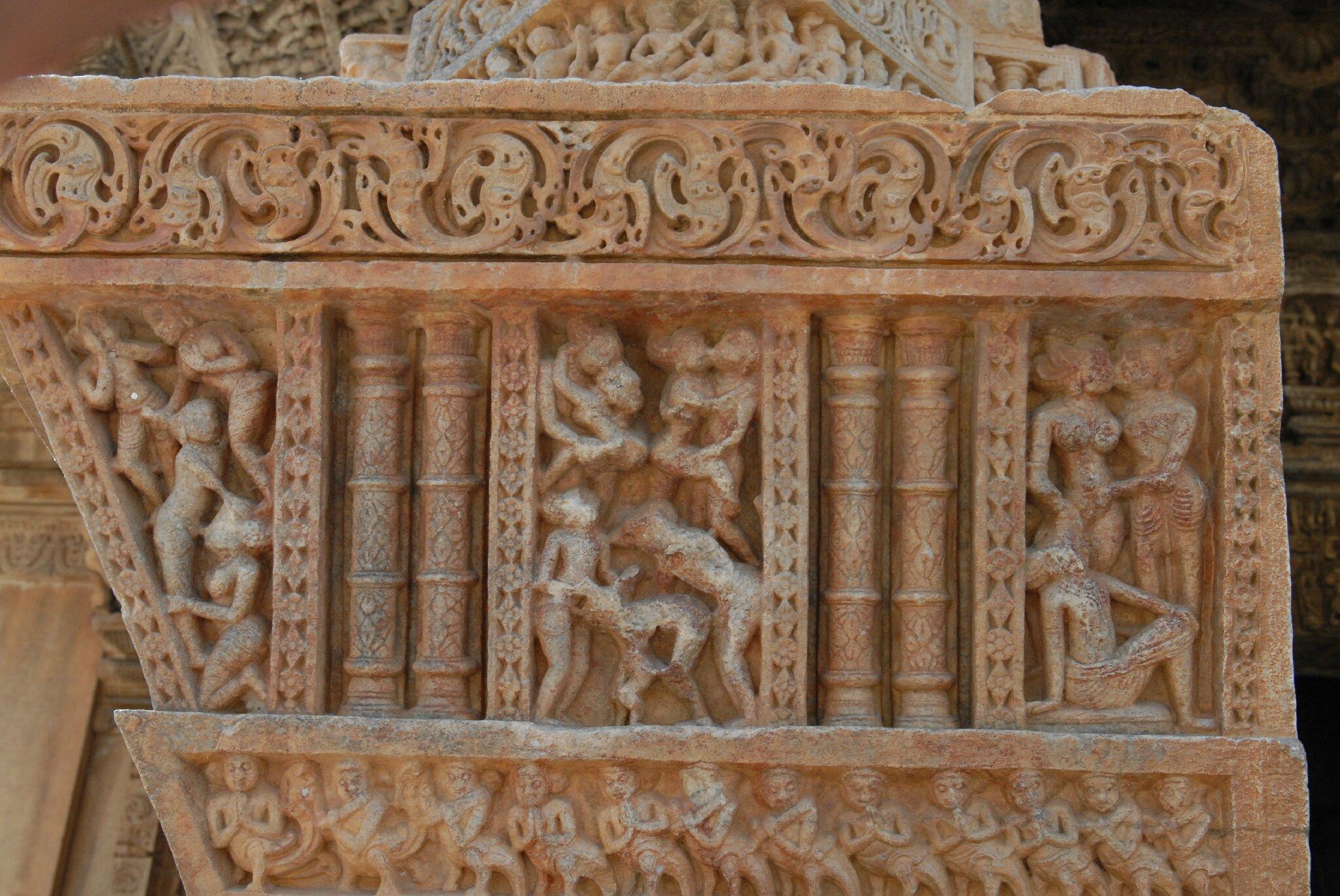 temple de Nagda au nord d'Udaipur