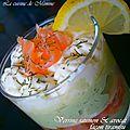 Verrines saumon & avocat façon tiramisu