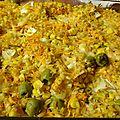 Gratin d'Ebly aux carottes, maïs et olives