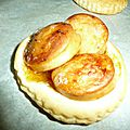 Tarte fine au boudin blanc et chutney de mangue