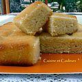 Gâteau de semoule au yaourt, amandes et sirop à l'orangina