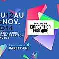 Semaine innovation publique du 12 au 16 novembre