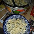 Tagliatelles fraîches et tofu basilico!
