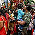 Le cortège du dieu Ganesh.