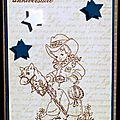 Un combo ... un cowboy ... des étoiles ... une carte d'anniversaire pour garçon !