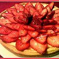 Tarte à la fraise et crème pâtissière