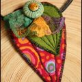 collier feuille multicolore rouge (4)