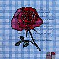 Carte fleur - vichy