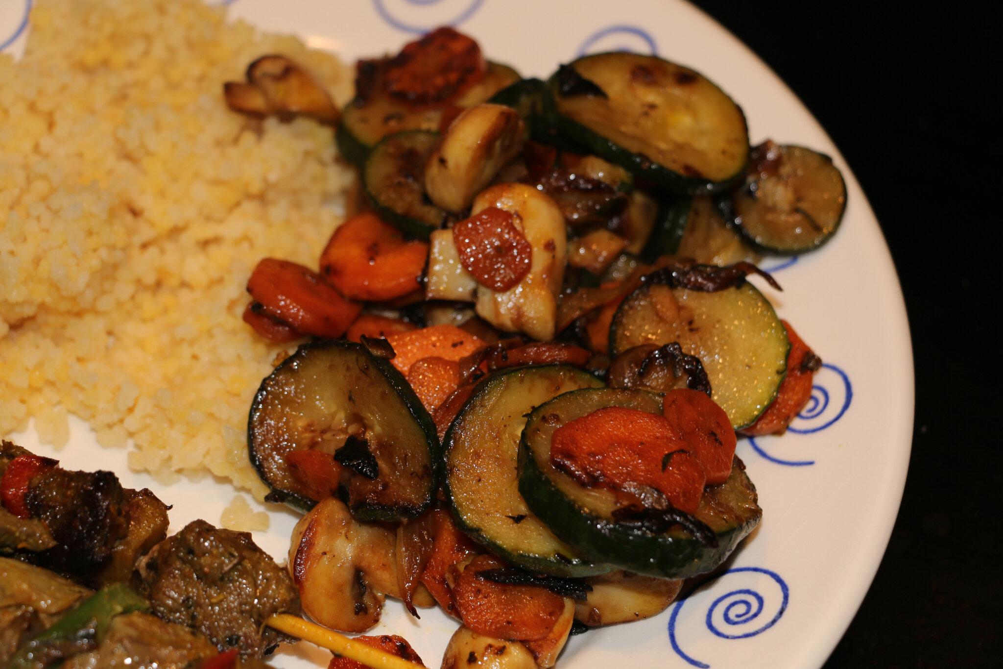 Poêlée de légumes à la plancha