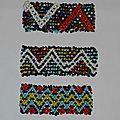 Bracelet Manchette 'Native American' ou Amérindien en perles tissées