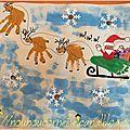Le traineau du père Noël et ses rennes