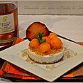 Cheese-cake salé, melon et ratafia de champagne
