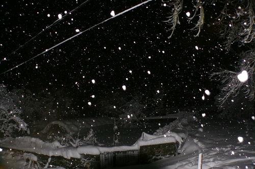 2008 12 14 Neige tombant en soirée