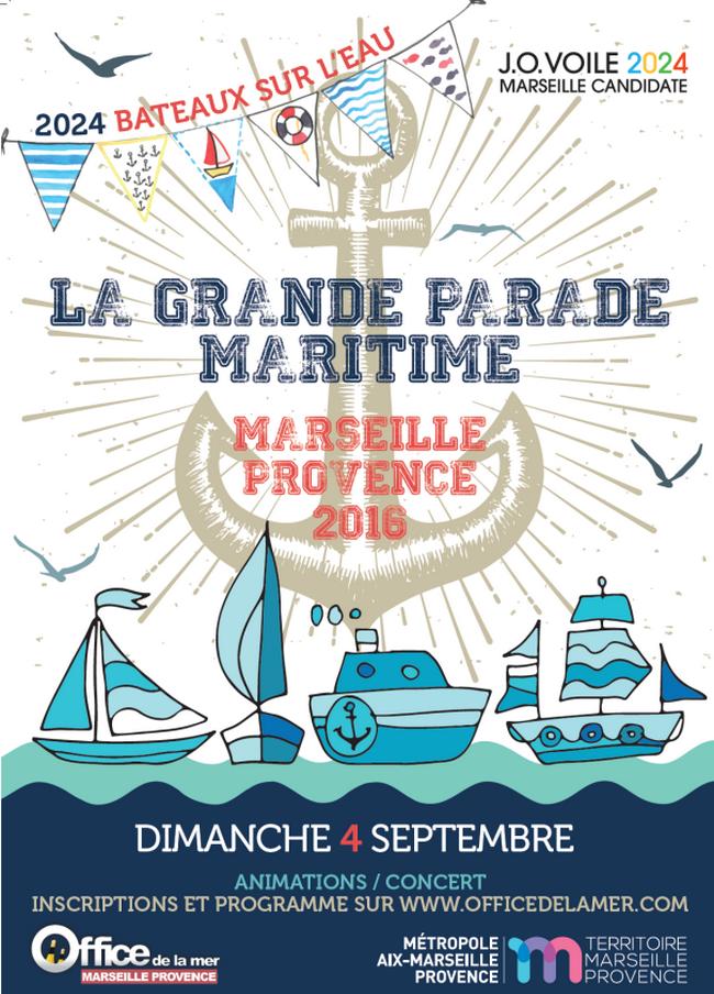 RAME TRADITIONNELLE - CONVOCATION Pour le 3 Septembre 2016 - La Grande parade maritime Marseille-Provence