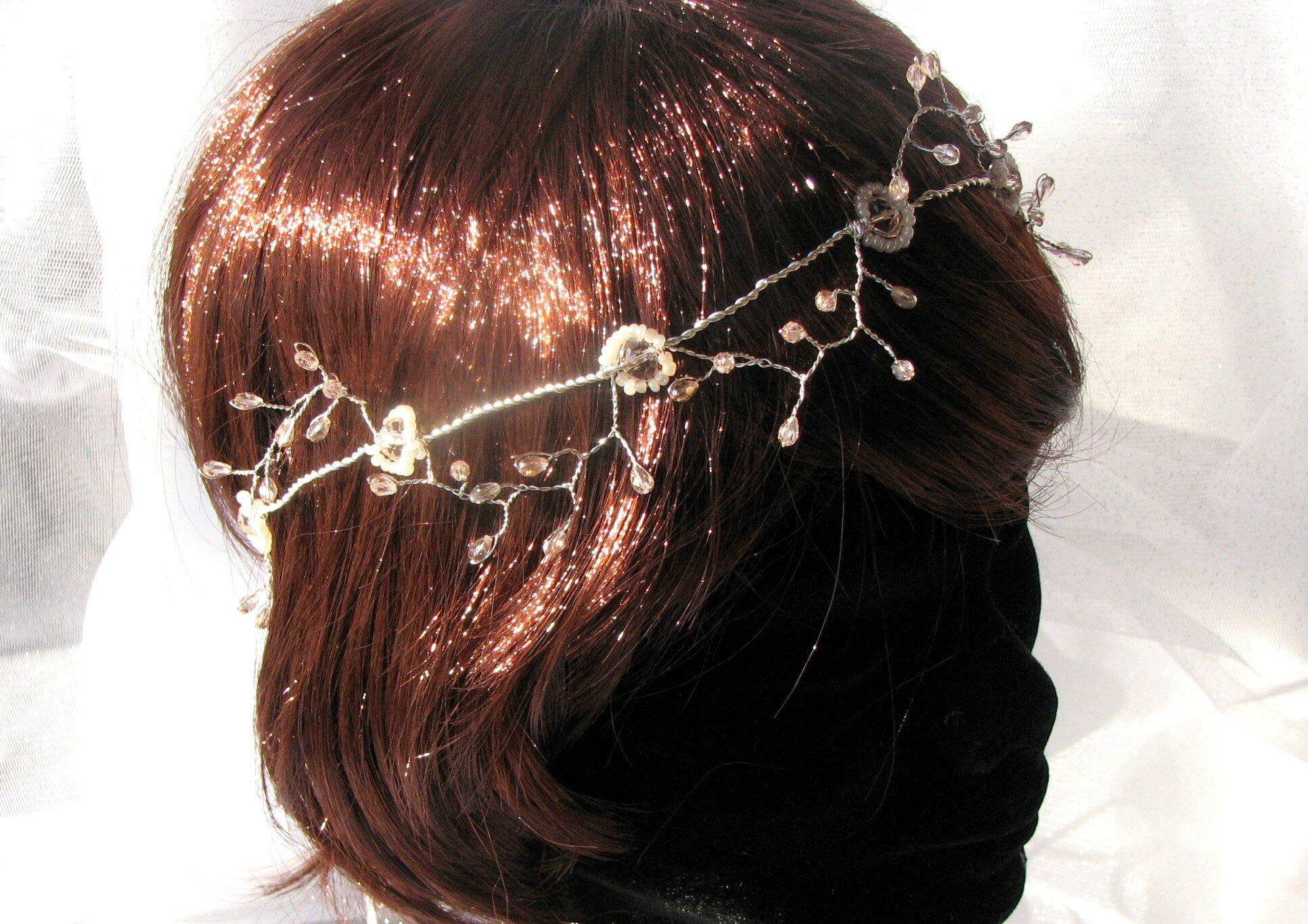 Couronne mariée accessoire cheveux bijou de tête