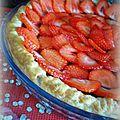 Tarte chocolat & fraises