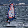 Windsurfing sur l'étang de Thau le <b>15</b> <b>avril</b> après-midi