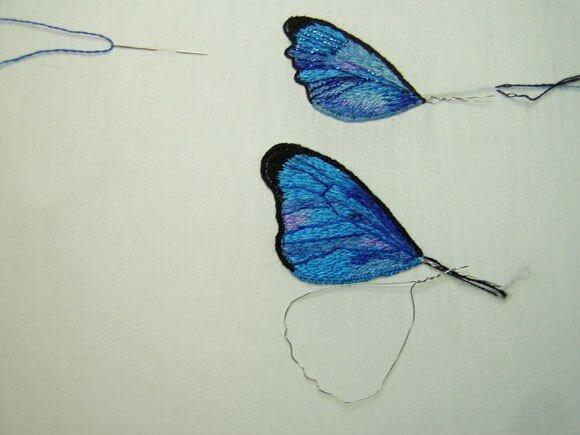 papillon bleucréation personnelle