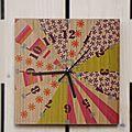 Horloge fleursi