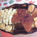Avant de partir au marché de CARCASSONNE, plateau petit déj'