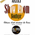 Prochainement l'atelier crapule factory ouvrira son show room - atelier boutique à belley 01300 artisanat made in france