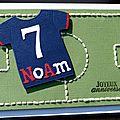 Carte d'anniversaire personnalisée comme un terrain de foot pour un fan !