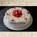 Fraisier crème chantilly mascarpone