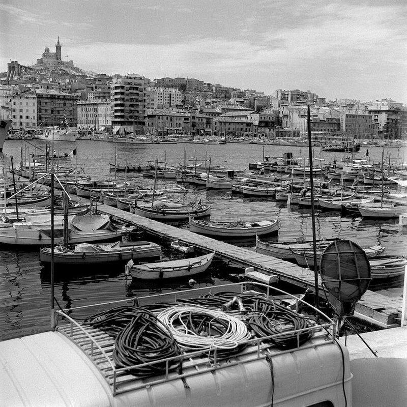 Le port de Marseille à l'occasion des fêtes nautiques 1957