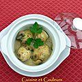 Défi culinaire # 13 filets de sole au sauternes et champignons