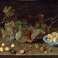 Isaak Soreau (German, active in second quarter, 17th century), <b>Still</b> <b>Life</b> <b>with</b> <b>Grapes</b> on a Platter