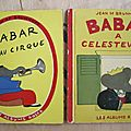 Albums babar - collection les albums roses - édition ancienne 1952