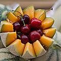 Cerises/melon