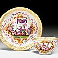 Cup and saucer with <b>chinoiserie</b> <b>decoration</b>, Meissen, ca. 1723-1724
