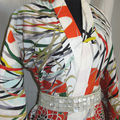 Kimono d'adoleslente multicolore, vintage