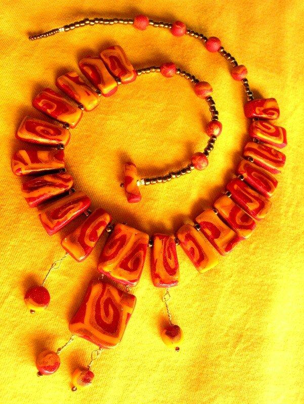 Collier à la manière de Klimt (enfin presque...)