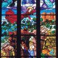 Rochefort en Terre, collégiale ND de la Tronchaye, vitrail