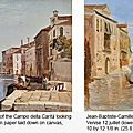 Gallery 19C brings together two views of Venice by <b>Jean</b>-<b>Baptiste</b>-<b>Camille</b> <b>Corot</b>