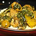 Sauté de veau aux olives et citron <b>confit</b>