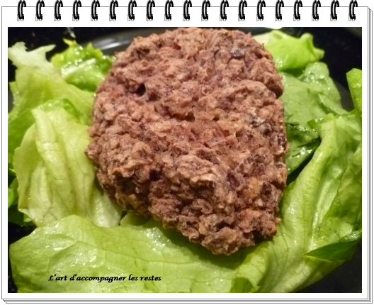 Steaks végétariens aux haricots rouges ww2